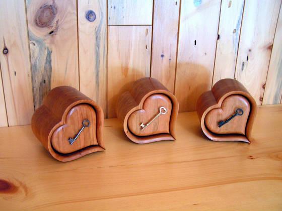 Wood Band Saw Box ~ Heart boxes